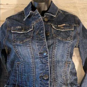 Hydraulic Women's Jean Jacket Distressed M